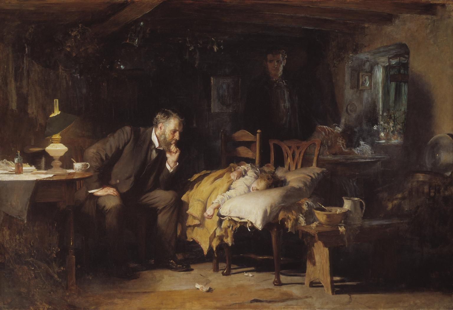 Sir Luke Fildes - The Doctor exhibited 1891